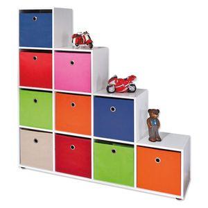 Raumteiler Regal Bücherregal Wandregal Aktenregal Wohnzimmer Caboto 10 weiß 10 Fächer