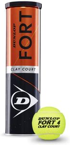 DUNLOP Tennisball DUNLOP FORT CLAY COURT - 000 gelb / -