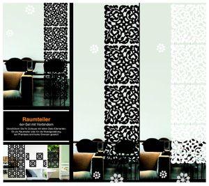 Raumteiler mit 4 Elementen Motiv Klassik Weiss