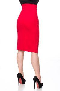 Belsira Bleistiftrock - rot, Größe:XL