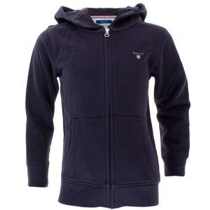 Gant Kinder Unisex Full Zip Kapuzenjacke Sweat Hoodie, Größe:146/152, Farbe:Blau(433)