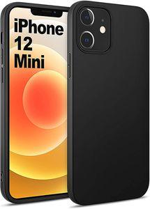 iPhone 12 mini Hülle AVANA Schutzhülle Silikon Slim Fit Case Matt Schwarz