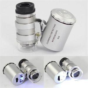 Mini 60x Vergrößerung LED Taschenmikroskop Schmuck Lupe Glas Lupe Neu J0C3