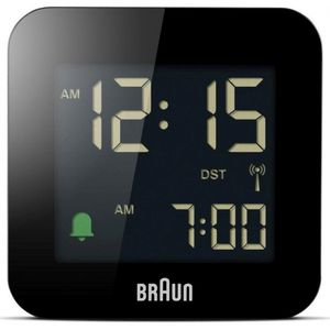 Braun Uhren BC08B-DCF - Funkwecker - schwarz