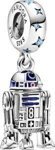 Pandora x Disney Star Wars Charm Anhänger 799248C01 StarWars R2-D2 Silber 925 Blaue Zirkonia Blaue