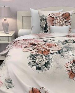 Heckett & Lane Baumwolle Bettwäsche 135x200 Vaness Crystal Rose Blumen Schmetterling