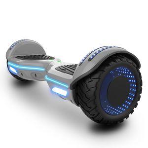 Hoverboard Elektro Self-Balance Scooter 6.5 zoll mit Bluetooth Lautsprecher - 2*350W Dual Motor - blinkendes LED-Lichtrad  segway
