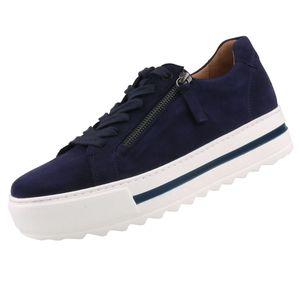 GABOR Comfort Damen Plateau Sneaker Blau, Schuhgröße:EUR 40
