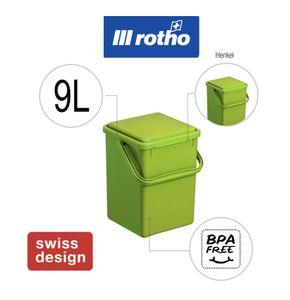 Rotho 8 l, Grün, Manuell, 230 mm, 225 mm, 275 mm
