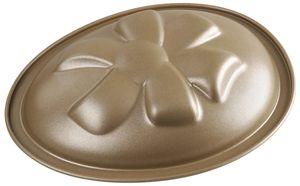 "Dr. Oetker Motivbackform ""Osterei"" 350 ml, ovale Backform für einen Oster-Kuchen aus der Serie ""Goldiges Ostern"" (Farbe: Gold), Menge: 1 Stück"