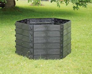 KHW Schnellkomposter Grundvariante SK  ; Farbe: Schwarz ; Maße (LxBxH): 130 cm x 130 cm x 50 cm ; 55009