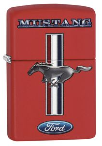 ZIPPO Feuerzeug 60003580 FORD Mustang red matte
