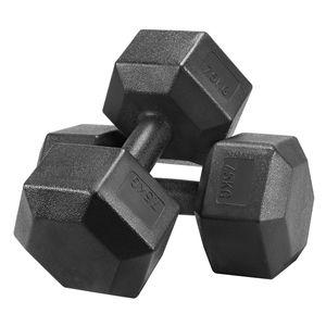 Yaheetech 2X Kurzhanteln 7,5 Kg Hanteln Set Hexagon Gymnastikhanteln Krafttraining Fitness zu Hause Gewichte Training, Schwarz