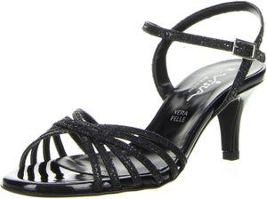 Vista Damen Sandaletten schwarz, Größe:38, Farbe:Schwarz