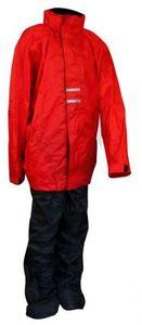 Ralka Kinder Regenanzug Rot/Schwarz, Größe:164