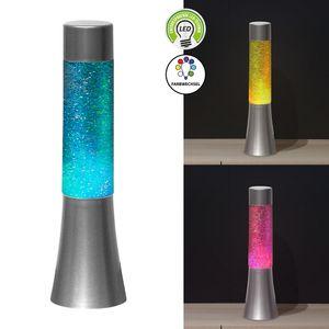 LED Lavalampe Glitter mit Farbwechsel Partylicht Glitzerlampe inkl. Batterien