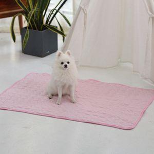 2 Stück / Set Haustier Kühlmatte Sommer Bequeme Matte Für Hund Welpe Katze Haustier Schlafzubehör,Rosa 50*40cm+60*50cm