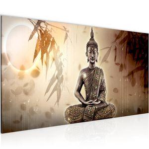 Buddha BILD 100x40 cm − FOTOGRAFIE AUF VLIES LEINWANDBILD XXL DEKORATION WANDBILDER MODERN KUNSTDRUCK MEHRTEILIG 500312a