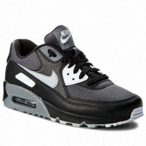 Nike Air Max 90 EU Gr.45 NEU Herren Sneaker Schuhe Sport Fitness Freizeit Schwarz/Grau  AJ1285003