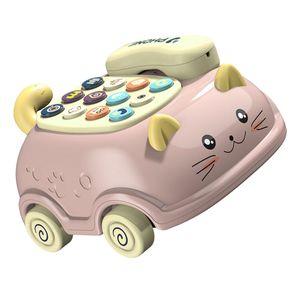 1 Set Kinder Telefon Spielzeug Kinder Stimme Telefon Auto Spielzeug Kleinkind Katze Telefon Spielzeug