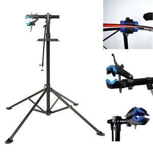 WYCTIN 360°Fahrrad Montageständer Reparaturständer Ständer klappbar 50kg höhenverstellbar 108-190 cm (Schwarz blau)