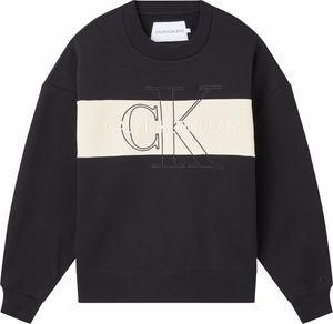 Calvin Klein MONOGRAM BLOCKING SWEATSHIRT Pullover Damen  ck black schwarz S