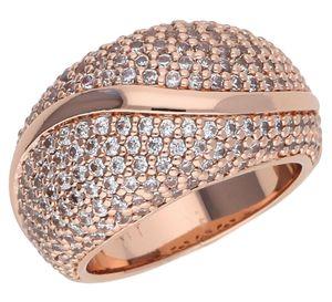 Esprit Damen Fingerring Atropia mit Steinbesatz Rosegold ESRG02844C, Ringgroesse:53 (16.9)