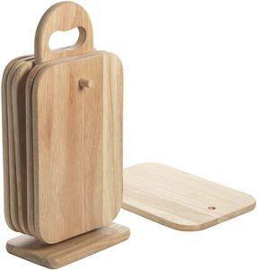 Frühstückbrettchen Set 7tlg.  aus Holz