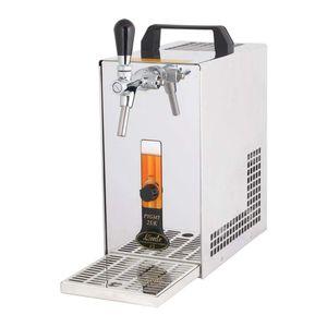 Komplett Set - Zapfanlage, Bierkoffer, Durchlaufkühler PYGMY 25 1-leitig Trockenkühler, 35 Liter/h, Zapfkopf:Korb
