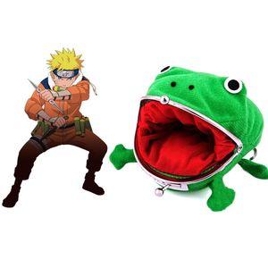 Niedliches Set Nettes Naruto Frosch Geldbörse Münzgeldbörse Neuheit Geschenk Plüsch Geldbörse Grün Neuheit Werkzeug