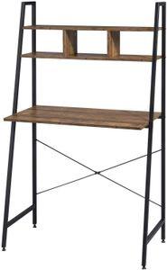 EUGAD Schreibtisch PC Tisch mit Ablage Holz Stahl : Holz vintage