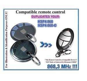 Handsender HSP4 868, 868 Handsender HSP4-C für Ersatz Handsender der Fernbedienung, 868,3Mhz fixed code