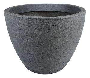 Pflanzkübel Stone Ø 50 cm Blumenkübel Pflanztopf Blumentopf Kunststoff rund grau