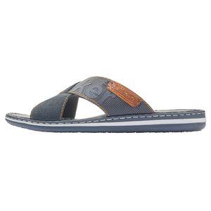 Rieker 21098-14 Herren Schuhe Pantoletten Weite G Clogs, Größe:42 EU, Farbe:Blau