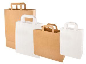 PAPSTAR Papier-Tragetasche 220 x 100 x 280 mm weiß