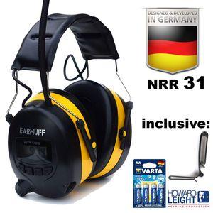 EARMUFF Gehörschutz mit FM Radio und AUX Eingang Gehörschützer YELLOW