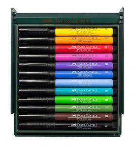 Faber-Castell - Tuschestift PITT artist pen B 12x Bright