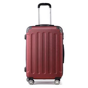 Reise Koffer Reise Koffer Hartschalenkoffer Trolley Reisekoffer XL Weinrot Kofferset 4 Rollen Roll-Koffer Handgepäck