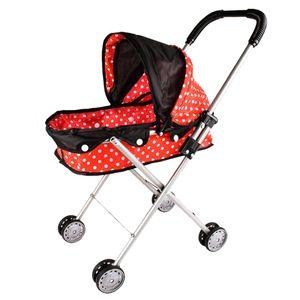 Baby Dolls Kinderwagen Kinderwagen Faltbare Kinder Rollenspiel Spielzeug Rot Farbe rot