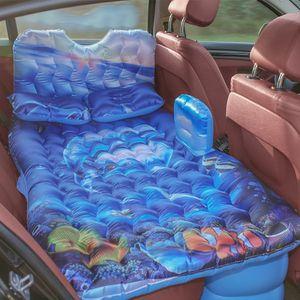 Auto Aufblasbare Luftmatratze Universal Autositz Bett Outdoor Outdoor Camping Matte mit Luftpumpe für Auto Rücksitz
