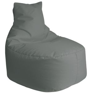 DILUMA Sitzsack Leni 80cm Silber  Für Indoor & Outdoor Bezug Wasserfest & Füllung Herausnehmbar  Für Gaming, Terrasse, Garten
