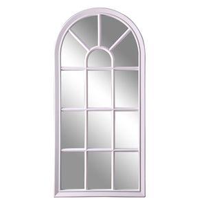 Exclusiver Wandspiegel Hängespiegel Dekospiegel weiß in Fenster-Optik H73xB35cm