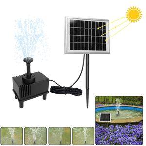 LZQ 2W Solarpumpe Teich Springbrunnen Teichpumpe Solar Bürstenlose Solarpumpe Solar Wasserspiel Fontäne Pumpe für Gartenteiche, Keine Akku