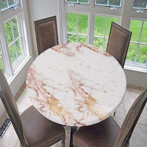 Retro Elastische Runde Tischdecke Tischtuch Gartentischdecke für Haus Garten 1 60 Zoll B - 120 cm (48 Zoll)
