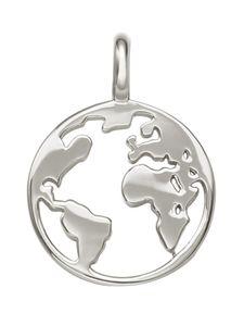 XENOX CHOICE XC5243 Damen Anhänger Erde Weltkugel Silber 925 Silber