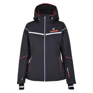dare2b Damen Wintersport Ski-Jacke Skijacke Icecap Jacket grau weiß rot, Größe:42