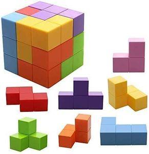 Magnetische Steine für Kinder mit 54 Smarte Teile Puzzles 3D Gehirn Training Intelligenz Stressabbau Spielzeug Spiele Quadratische Magnete Würfel