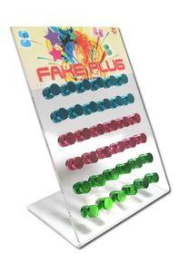 Regenbogen Fake Plugs in Verschiedenen Farben