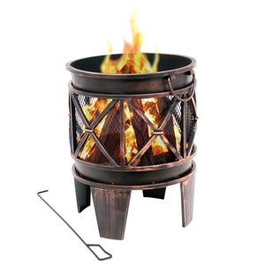 "BBQ-Toro Feuerkorb ""Plum"" | Ø 42 x 52,5 cm | Feuerschale, Feuerstelle"