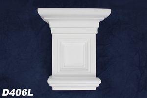1 Kapitell Eckelement für Türportal Stuckdekor Innen stoßfest 190x170mm, D406L